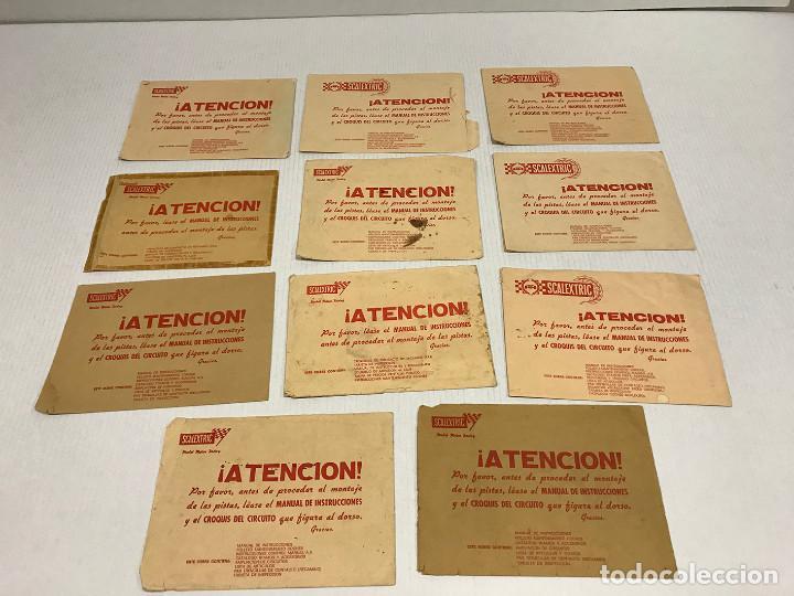 Scalextric: Lote de 11 sobres originales de Scalextric Exin. Salen a 2,5 € el sobre - Foto 2 - 194241570