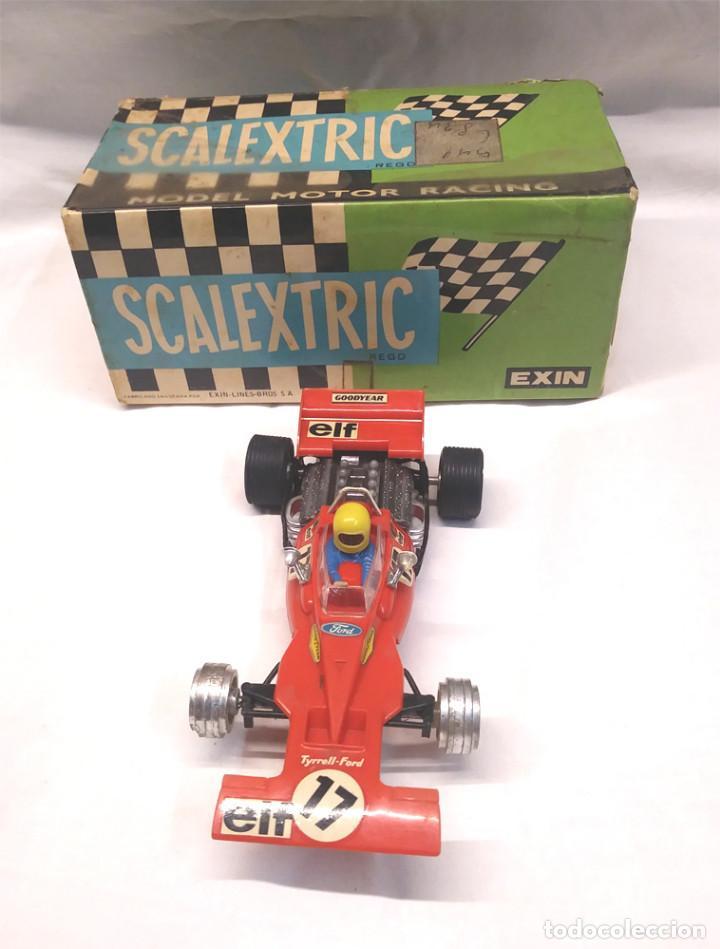 Scalextric: Tyrrell Ford Ref. C 48 rojo de Exin Scalextric años 70, con caja - Foto 2 - 194407413