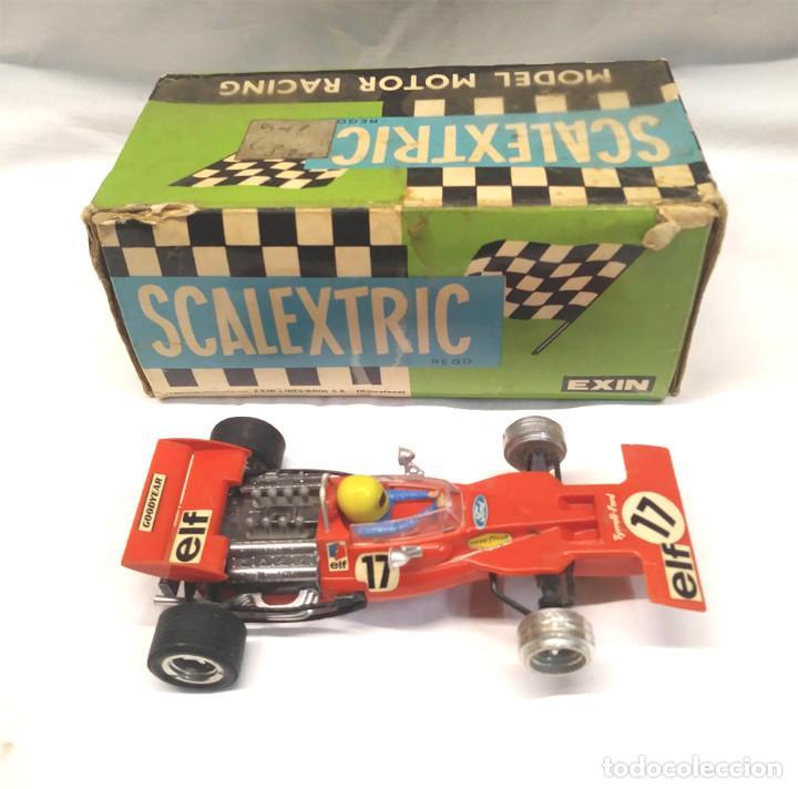 Scalextric: Tyrrell Ford Ref. C 48 rojo de Exin Scalextric años 70, con caja - Foto 3 - 194407413