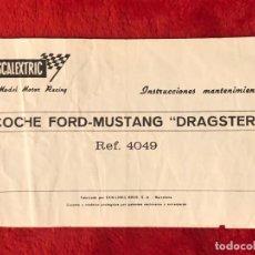 Scalextric: SCALEXTRIC EXIN INSTRUCCIONES DE MANTENIMIENTO ORIGINALES FORD MUSTANG DRAGSTER. Lote 195206060