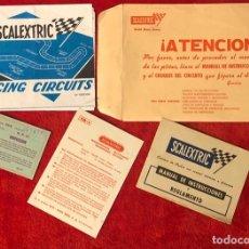 Scalextric: SCALEXTRIC EXIN SOBRE DOCUMENTACION CIRCUITO GP 17. Lote 195243965