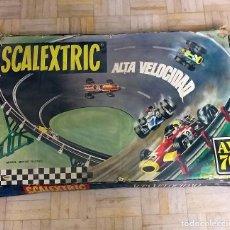 Scalextric: SCALEXTRIC AV 70 ALTA VELOCIDAD EN CAJA ORIGINAL AÑOS 70 EXIN BUEN ESTADO. Lote 195334951