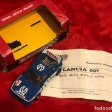 Scalextric: SCALEXTRIC EXIN LANCIA 037 PIONEER CON CAJA E INSTRUCCIONES ORIGINALES. Lote 195344365