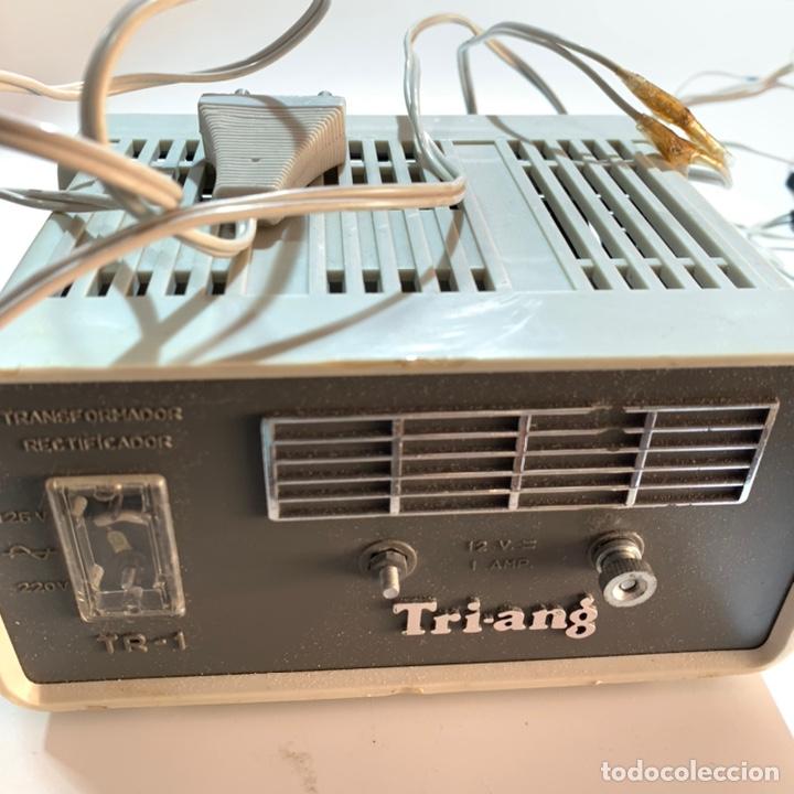 Scalextric: Lote transformador rectificador scalextric Exin tri ang triang mandos negro y rojo - Foto 2 - 195390435