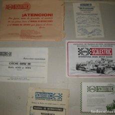 Scalextric: SOBRE CON TARJETAS Y DOCUMENTOS DEL EQUIPO SCALEXTRIC EXIN GP-55 AÑO 1982 APROX.. Lote 195475657