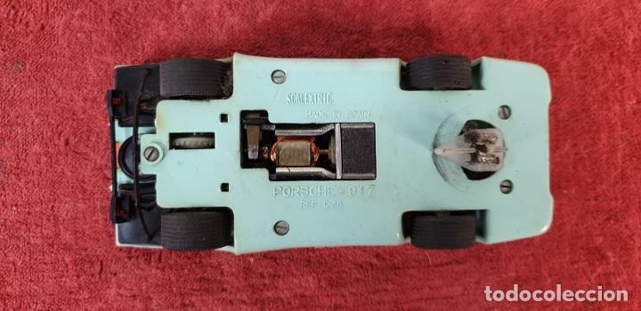 Scalextric: COCHE SCALEXTRIC. PORSCHE 917. CARROCERÍA EN VERDE AZULADO. REF C-46. ESPAÑA. 1972. - Foto 3 - 196157460