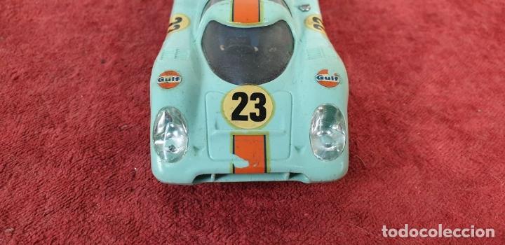 Scalextric: COCHE SCALEXTRIC. PORSCHE 917. CARROCERÍA EN VERDE AZULADO. REF C-46. ESPAÑA. 1972. - Foto 5 - 196157460
