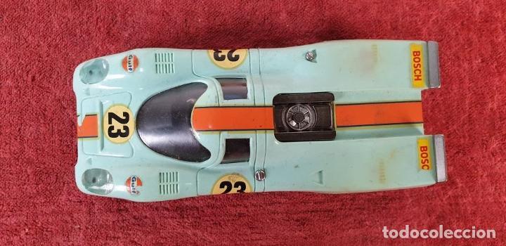Scalextric: COCHE SCALEXTRIC. PORSCHE 917. CARROCERÍA EN VERDE AZULADO. REF C-46. ESPAÑA. 1972. - Foto 6 - 196157460