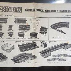 Scalextric: FOLLETO CATALOGO TRAMOS ACCESORIOS Y RECAMBIOS 12 EDICION. Lote 196919985