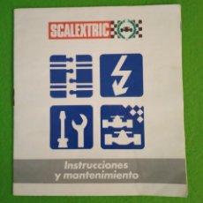 Scalextric: MANUAL DE INSTRUCCIONES ANTIGUO DE SCALEXTRIC. Lote 197061107