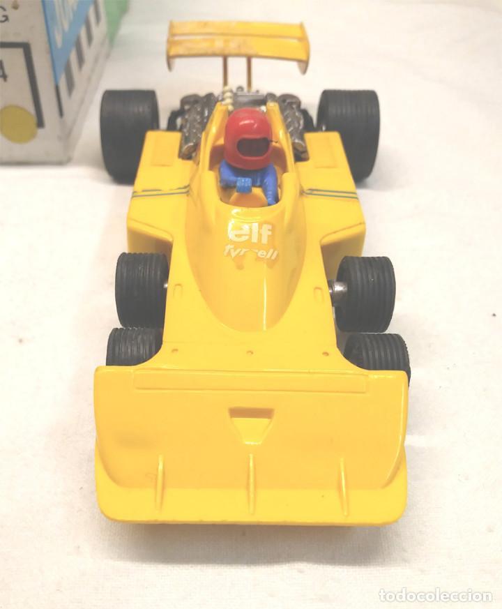Scalextric: Tyrrell P34 amarillo Ref 4054 de Exin Scalextric años 70, con caja - Foto 2 - 197887421