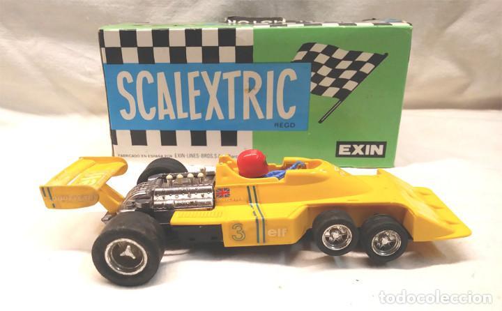 Scalextric: Tyrrell P34 amarillo Ref 4054 de Exin Scalextric años 70, con caja - Foto 3 - 197887421