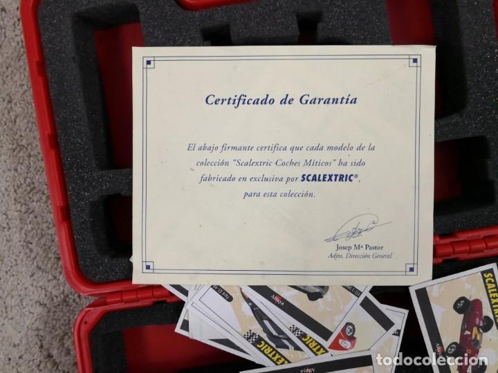 Scalextric: MALETIN DE 12 COCHES DE SCALEXTRIC ALTAYA PLANETA CON FICHAS Y DOCUMENTACIÓN - Foto 4 - 198312600