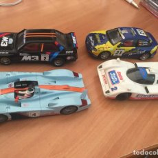 Scalextric: SCALEXTRIC LOTE 4 COCHES BMW M3 JAGUAR SEAT CORDOBA AUDI R8 (J-3). Lote 207099830