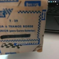 Scalextric: CAJA 5 TRAMOS BORDE SCALEXTRIC EXIN. Lote 199130053