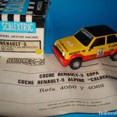 Scalextric: SCALEXTRIC EXIN 4062 RENAULT 5 ALPINE CALBERSON AÑO 1980 SPAIN CAJA ORIGINAL NUEVO. Lote 199480320