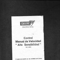 Scalextric: ANTIGUO MANUAL DE SCALEXTRIC CONTROL MANUAL DE VELOCIDAD ALTA SENSIBILIDAD REF. 4210. Lote 200059500