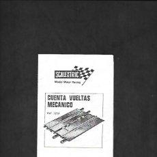 Scalextric: ANTIGUO MANUAL DE SCALEXTRIC CUENTA VUELTAS MECANICO REF 3259. Lote 200060336