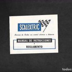 Scalextric: ANTIGUO MANUAL DE SCALEXTRIC MANUAL DE INSTRUCCIONES Y REGLAMENTO. Lote 200061526
