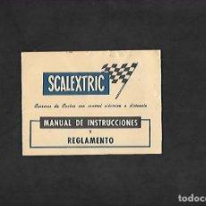 Scalextric: ANTIGUO MANUAL DE SCALEXTRIC MANUAL DE INSTRUCCIONES Y REGLAMENTO. Lote 200063496