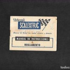 Scalextric: ANTIGUO MANUAL TRIANG DE SCALEXTRIC MANUAL DE INSTRUCCIONES Y REGLAMENTO. Lote 200065106