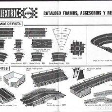 Scalextric: ANTIGUO CATALOGO TRAMOS, ACCESORIOS Y RECAMBIOS 10ª EDICION DE SCALEXTRIC. Lote 200114420