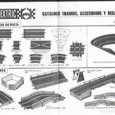 Scalextric: ANTIGUO CATALOGO TRAMOS, ACCESORIOS Y RECAMBIOS 10ª EDICION DE SCALEXTRIC. Lote 200114803