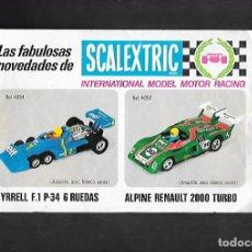 Scalextric: ANTIGUO FOLLETO LAS FABULOSAS NOVEDADES AÑOS 70 DE SCALEXTRIC. Lote 200121100