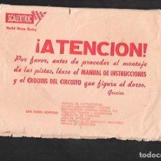 Scalextric: ANTIGUO SOBRE VACIO G.T.L. 30 DE SCALEXTRIC. Lote 200122718