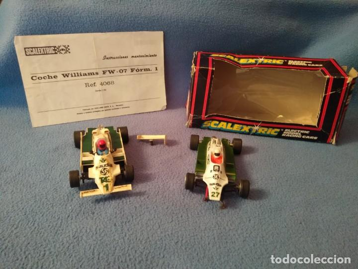 LOTE COCHES SCALEXTRIC WILLIAMS EXIN (Juguetes - Slot Cars - Scalextric Exin)