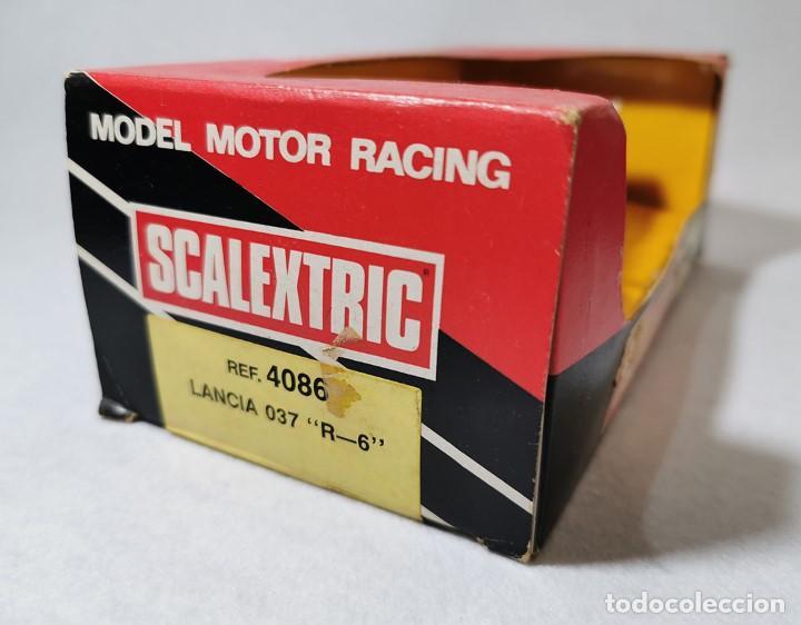 Scalextric: SCALEXTRIC EXÍN LANCIA 037 R-6 ref. 4086, PERFECTO ESTADO DEL AÑO 1988 - Foto 15 - 203902982
