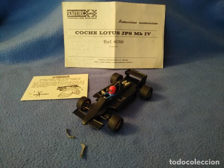 COCHE SCALEXTRIC EXIN MODELO LOTUS JPS MK4 (Juguetes - Slot Cars - Scalextric Exin)