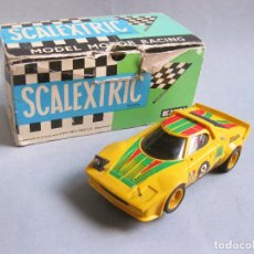 Scalextric: COCHE SCALEXTRIC LANCIA STRATOS COLOR AMARILLO CON CAJA - REF 4055. Lote 205828456