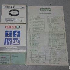 Scalextric: DOCUMENTACIÓN ORIGINAL CIRCUITO GP 12 SCALEXTRIC EXIN. Lote 205867485