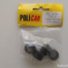 Scalextric: NEUMÁTICOS RUEDAS SLOT POLICAR 20X12 SCALEXTRIC. Lote 206189210