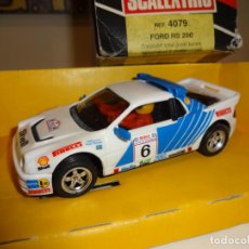 Scalextric: SCALEXTRIC. EXIN. FORD RS200 SHELL. CON LUCES. REF. 4079. Lote 206418663