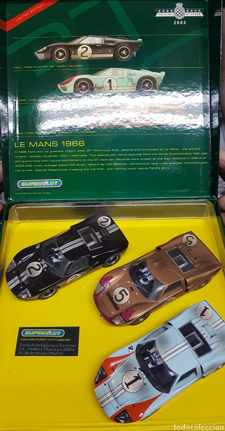 IMPRESIONANTE COCHES SCALEXTRIX SUPERSLOT LE MANS 1966 (Juguetes - Slot Cars - Scalextric Exin)