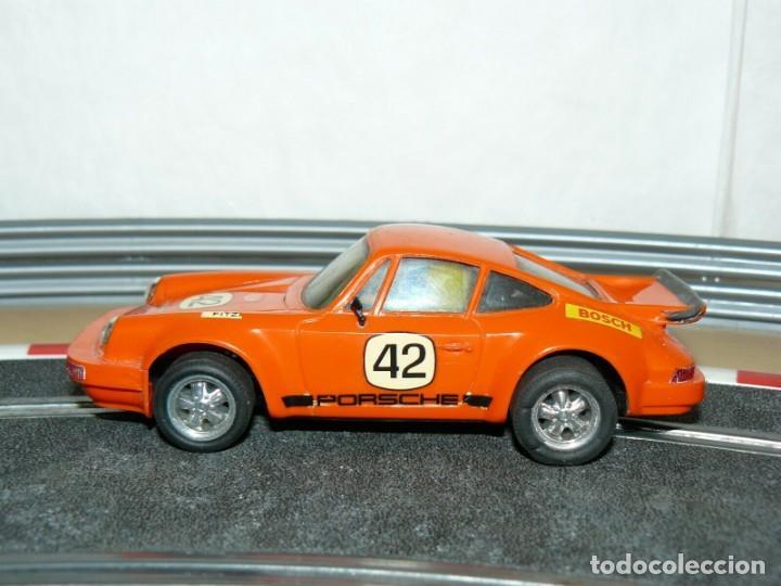 SCALEXTRIC EXIN COCHE PORSCHE CARRERA RS NARANJA 4051 ORIGINAL AÑO 1975 SLOT CAR (Juguetes - Slot Cars - Scalextric Exin)