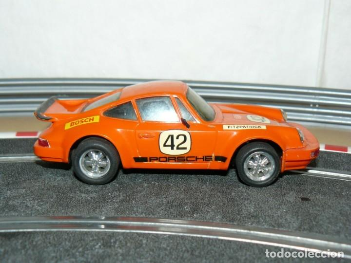 Scalextric: Scalextric Exin Coche PORSCHE CARRERA RS Naranja 4051 original año 1975 slot car - Foto 2 - 208063841