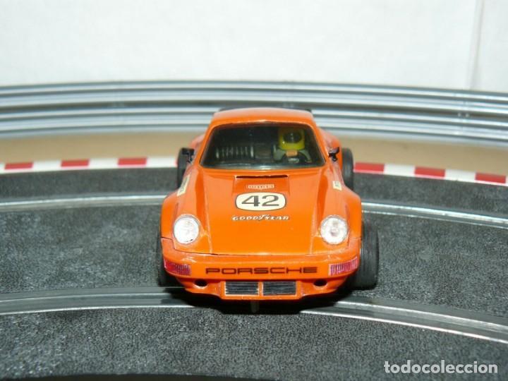 Scalextric: Scalextric Exin Coche PORSCHE CARRERA RS Naranja 4051 original año 1975 slot car - Foto 3 - 208063841