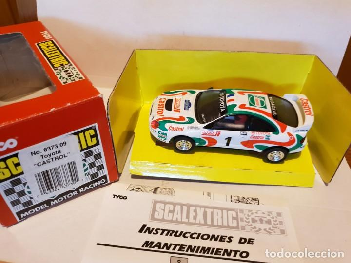 TOYOTA CELICA CASTROL REF.-8373.09 (Juguetes - Slot Cars - Scalextric Exin)