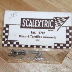 Scalextric: SCALEXTRIC EXIN - REF. 5712 - BOLSA 6 TORNILLOS CARROCERIA - NUEVOS Y EN SU BLISTER. Lote 210316170