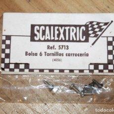 Scalextric: SCALEXTRIC EXIN - REF. 5712 - BOLSA 6 TORNILLOS CARROCERIA - NUEVOS Y EN SU BLISTER. Lote 210316191