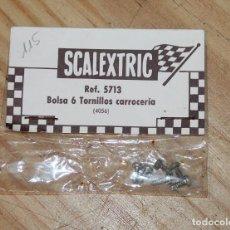 Scalextric: SCALEXTRIC EXIN - REF. 5712 - BOLSA 6 TORNILLOS CARROCERIA - NUEVOS Y EN SU BLISTER. Lote 210317022
