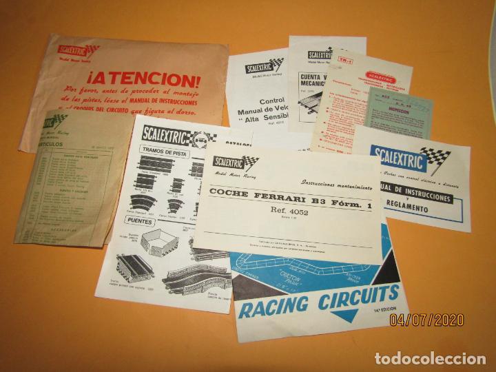 ANTIGUO SOBRE CON LA DOCUMENTACIÓN DE LA CAJA CIRCUITO S.R. 45 DE SCALEXTRIC EXIN - AÑO 1977 (Juguetes - Slot Cars - Scalextric Exin)