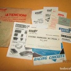 Scalextric: ANTIGUO SOBRE CON LA DOCUMENTACIÓN DE LA CAJA CIRCUITO S.R. 45 DE SCALEXTRIC EXIN - AÑO 1977. Lote 210451808