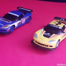 Scalextric: 2 COCHES SCALEXTRIC CORVETTE C6R USED UNDER LICENCE ESTAN PERFECTOS .MADE IN CHINA. Lote 210571526