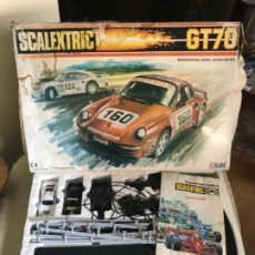 Scalextric: CAJA SCALEXTRIC EXIN MODELO GT 70 EXIN COMPLETO COCHES BLANCO Y NEGRO. Lote 211572875