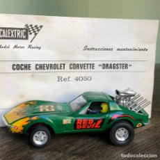 Scalextric: CHEVROLET CORVETTE DRAGSTER 4050 DE EXIN, ESCALEXTRIC MADE IN SPAIN. Lote 211640044