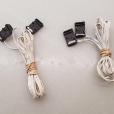 Scalextric: SLOT SCALEXTRIC EXIN 2X CABLE LINEA MANTENIMIENTO DE TENSION. Lote 277610353
